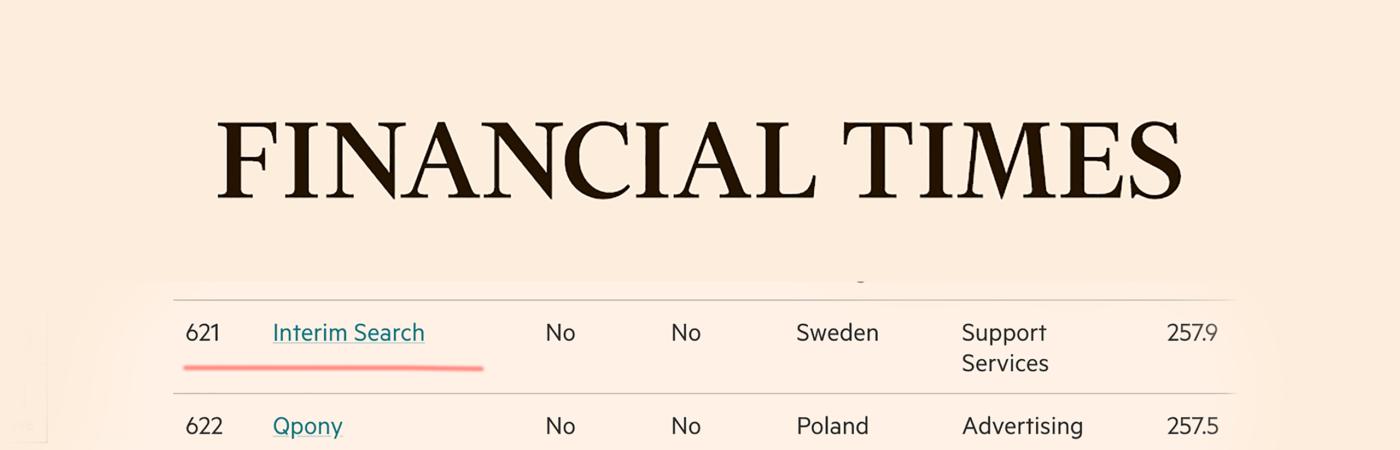 Financial Times uppmärksammar Interim Searchs snabba tillväxt